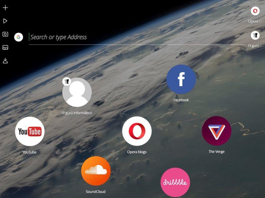 Neon: el nuevo y novedoso buscador de Opera