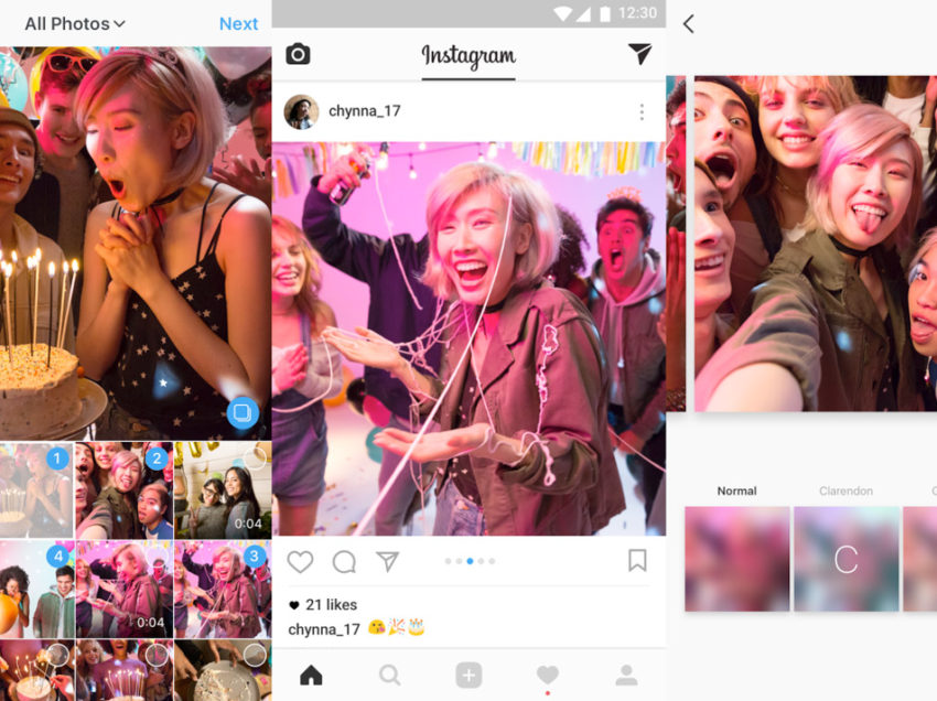 Sube álbumes en Instagram con hasta 10 fotos y videos