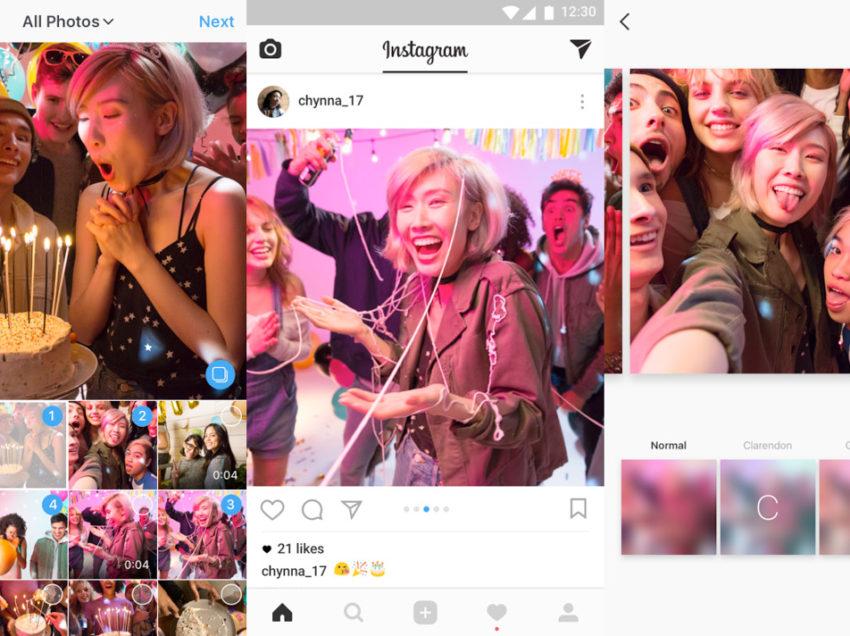 Sube álbumes en Instagram con hasta 10 fotos y videos
