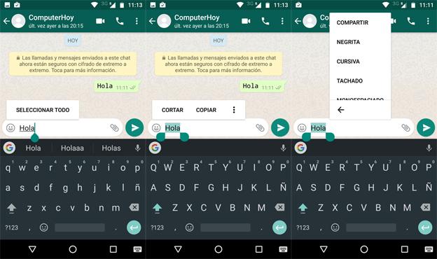 Ahora WhatsApp permite modificar textos