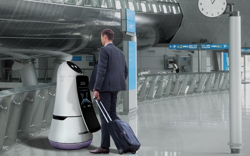 Los robots de LG toman  el aeropuerto más grande de Corea