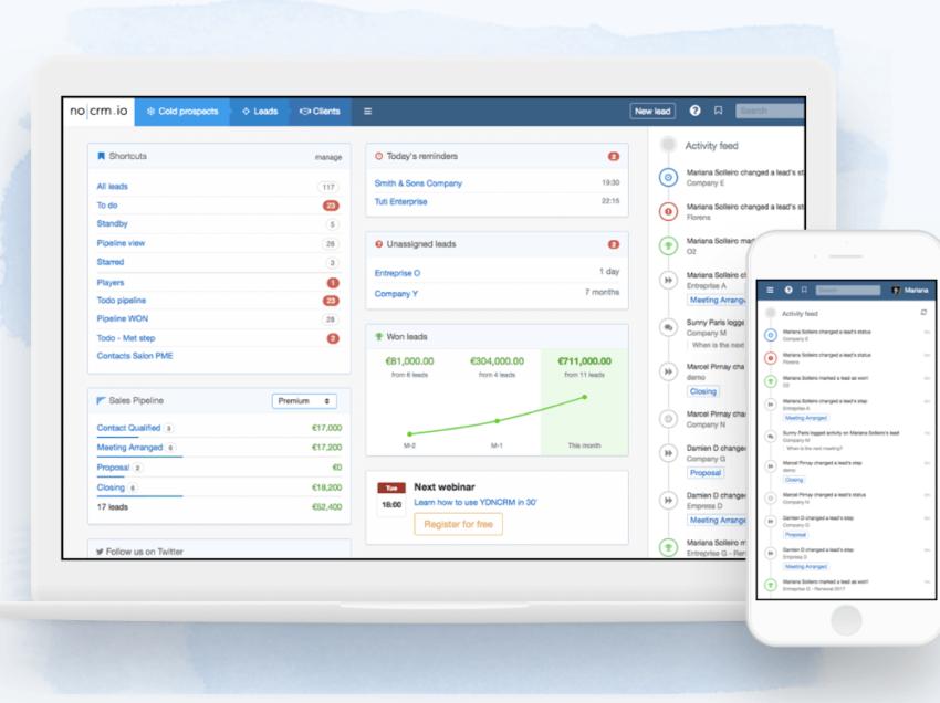 Sistema de gestiónnocrm.io renace con nuevo diseño
