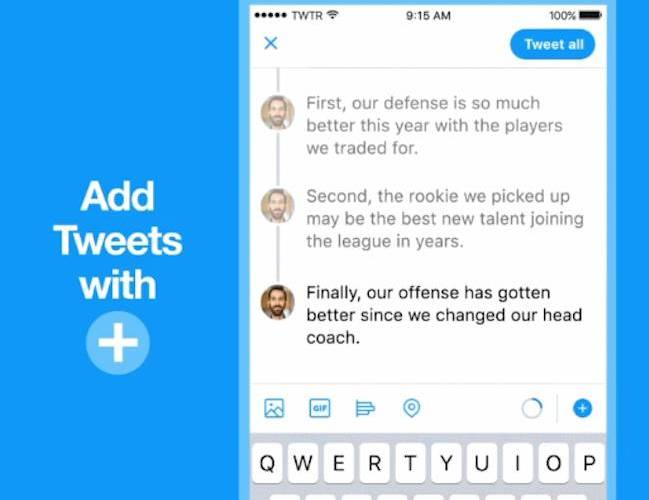 Twitter ahora permite enlazar twets en forma de hilos de conversación