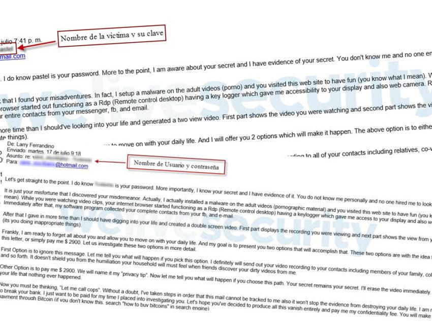 Sextorsión: Qué hacer si se recibe un correo con una contraseña en el asunto