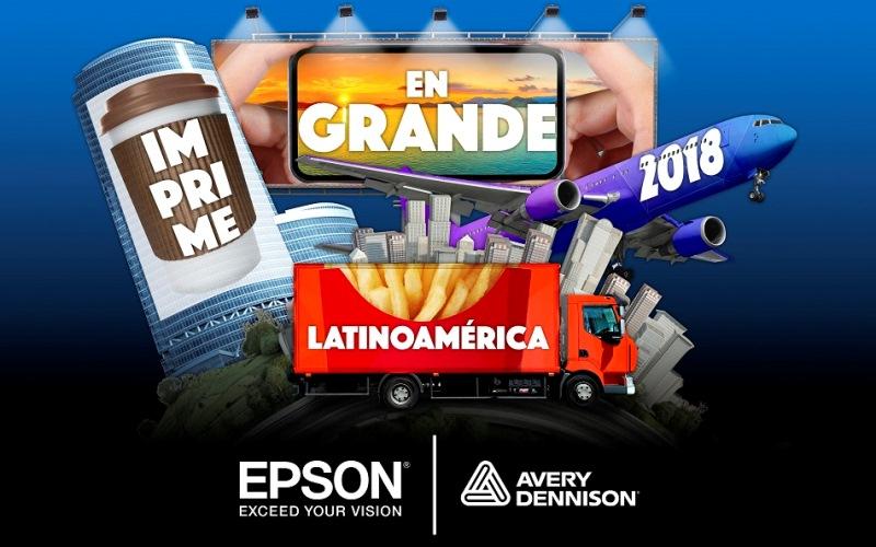 """Epson y Avery Dennison lanzan concurso""""Imprime en grande""""en América Latina"""