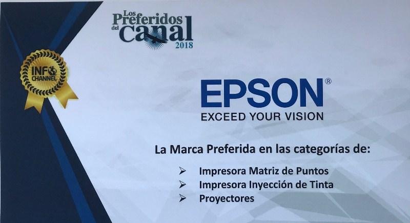 Epson continúa siendo la marca preferida de los distribuidores de cómputo