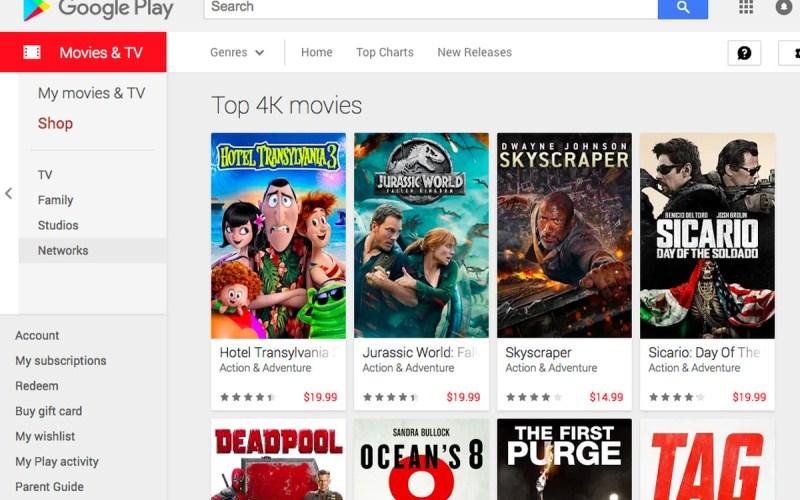 Google logra ofertas de alquiler de películas para el Día de Acción de Gracias