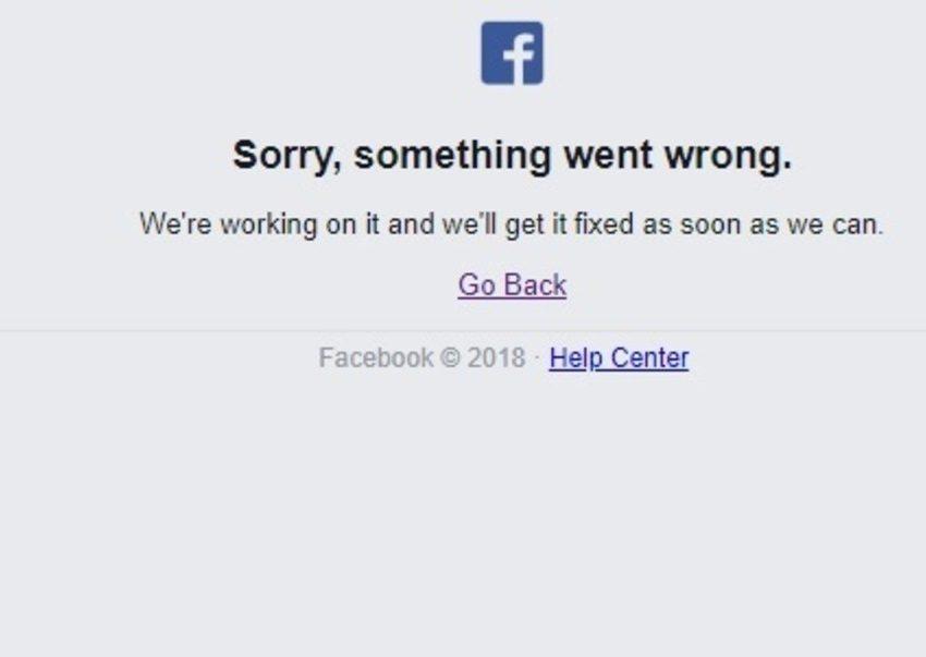 Facebook sufre caída global