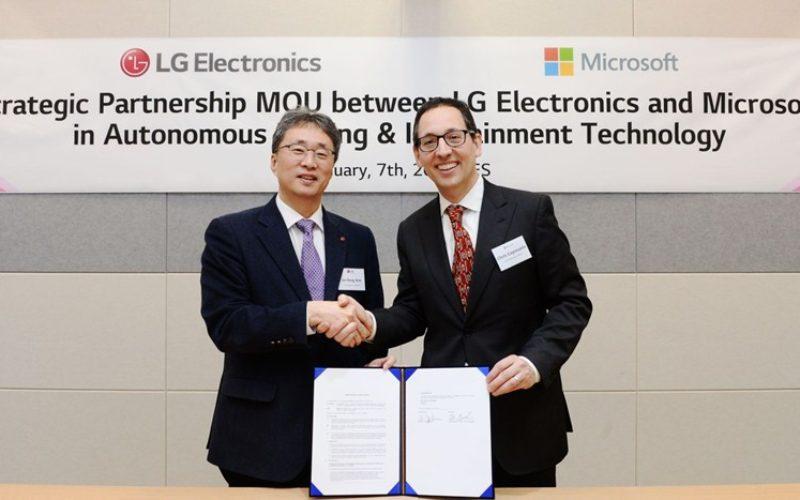 LG se asocia con Microsoft para acelerar la revolución automotriz