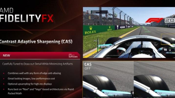 Codemasters integra nueva tecnología de nitidez de imagen de AMD en F1 2019