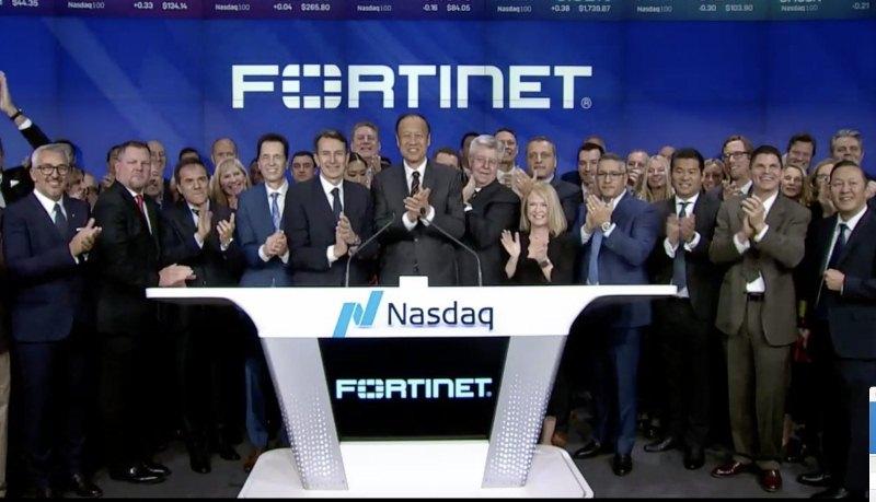 Fortinet celebra su décimo aniversario en la bolsa con un campanazo en Nasdaq