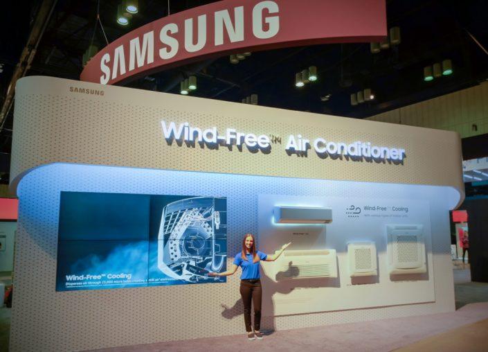 Samsung exhibió una gama completa de aires acondicionados Wind-Free™ en la AHR Expo 2020