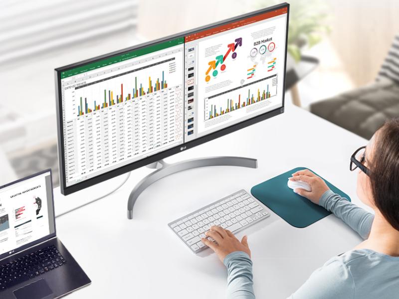 Eleva tu productividad en casa con los monitoresUltraWidede LGElectronics