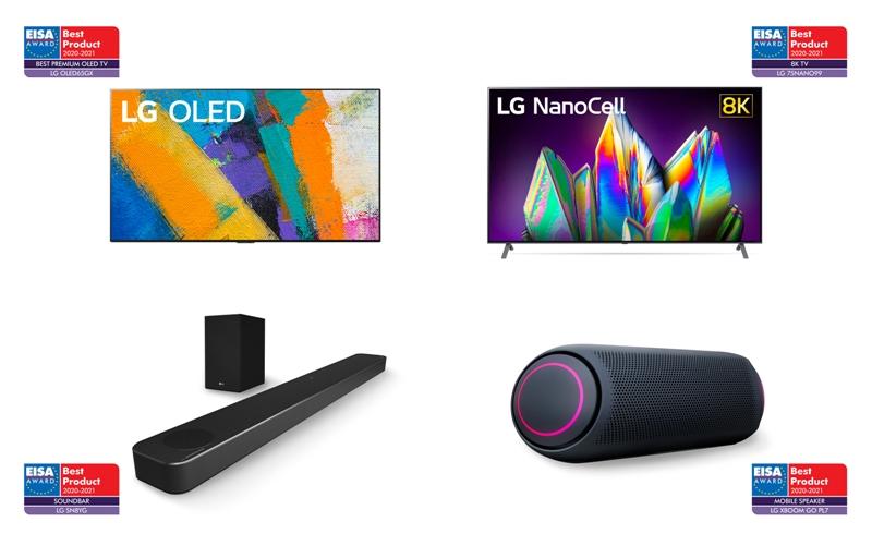 Productos de audio y TV de LG líderes en la industria ganan a lo grande en los premios EISA 2020