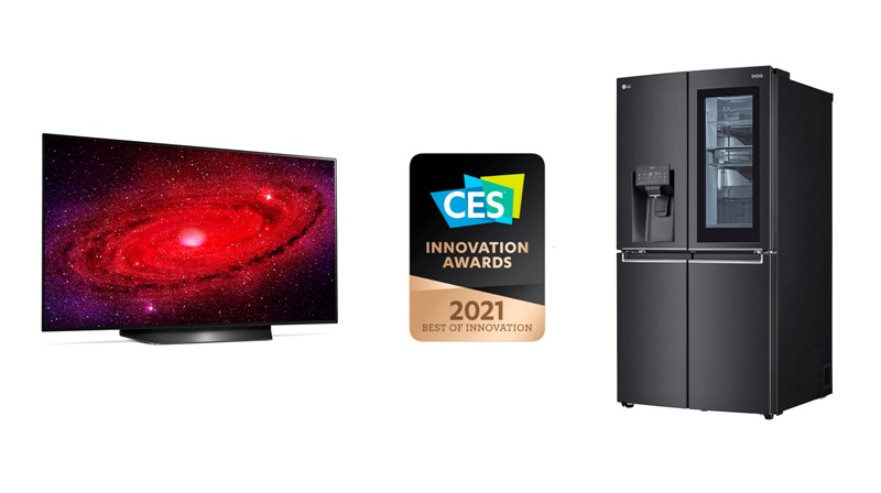 LG honrado con los premios a la innovación CES 2021