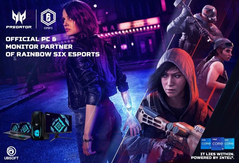 Ubisoft y Acer renuevan su asociación para el circuito global deEsportsRainbowSixde TomClancy